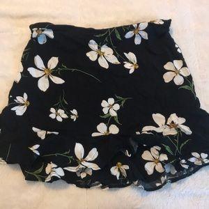 UO floral mini skirt